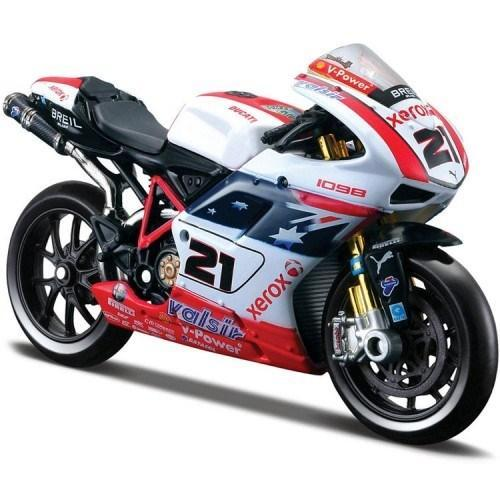 Model Bike 1:18 Maisto #21 Troy Bayliss Xerox Ducati - SCARCE - Pocketbike SA