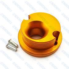 Race Anodized Cone Air Filter Adaptor -Gold - Pocketbike SA