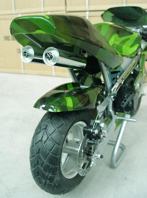 Twin Exhaust System - Pocketbike SA