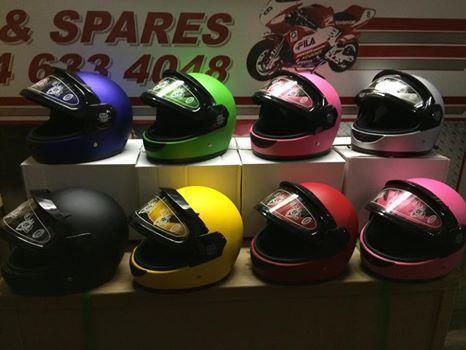 Kids Helmet Matt Green - Pocketbike SA