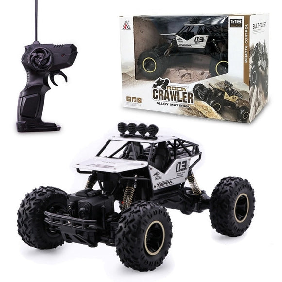 1:16 Scale RC 4WD Rock Crawler - Silver with Rubber Tyres