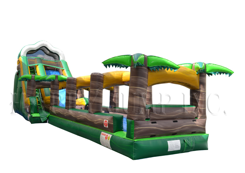 Inflatable Water Slide With Slip & Slide!