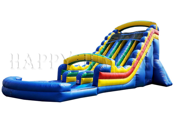 22' Double Lane Water Slide Primary Colors - WS4152