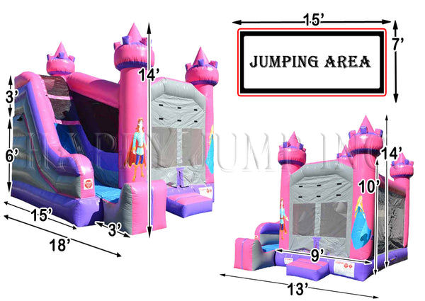 5x Jump & Splash Princess - CO2325