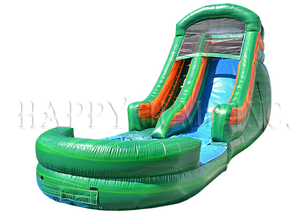 16' Green Magic Water Slide - WS8217