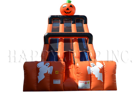 24ft Halloween Double Lane Slide - SL3174