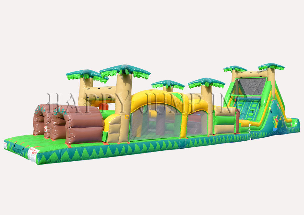 Obstacle Course 3 PLUS (16ft Slide)-Tropical (Wet & Dry) - IG5123-16
