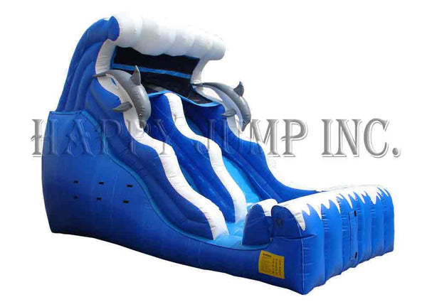18' Double Drop Wet & Dry Slide - WS4121