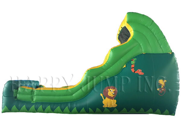 18' Double Drop Wet & Dry Tropical Slide - WS4124