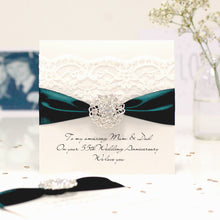 Load image into Gallery viewer, Emerald Opulence Luxury 55th wedding anniversary card - theluxeco.co.uk