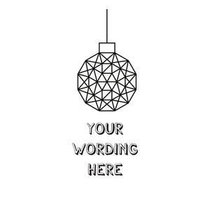 Christmas bauble decoration jumper | Design your own | By Lilly + Boo at The Luxe Co