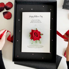 Load image into Gallery viewer, Fairytale Beauty and the Beast Scented Rose Mothers Day Card