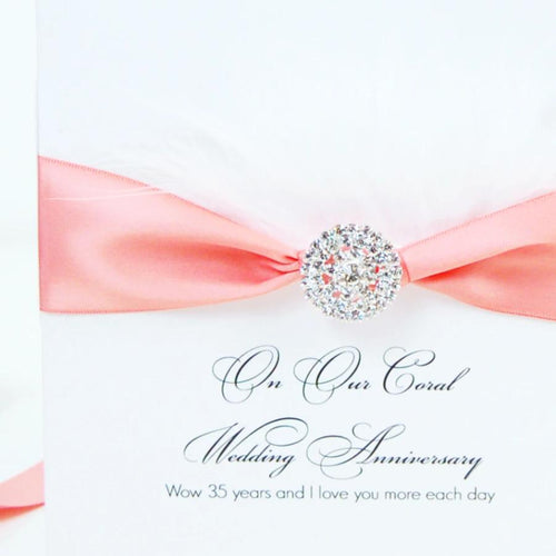 35th Anniversary Fluffy Feather Card