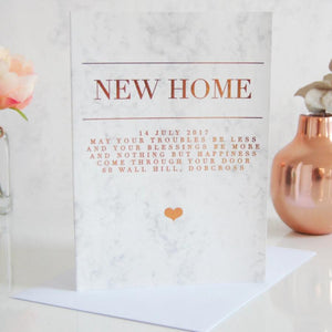 Foiled Heart New Home Card