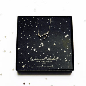 Libra star sign star necklace