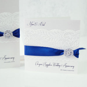 Personalised sapphire anniversary cards