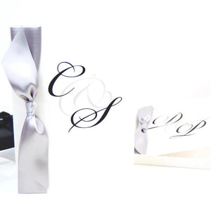 Silver Anniversary Monogram Initials Card