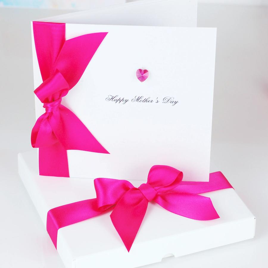 Bedazzled Swarovski Crystal Boxed Mum Card