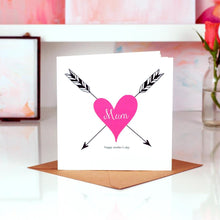 Load image into Gallery viewer, Tattoo heart personalised mothers day card | The Luxe Co