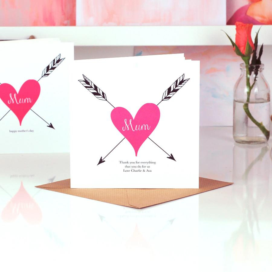 Personalised Mothers Day Cards | Tattoo Heart | The Luxe Co