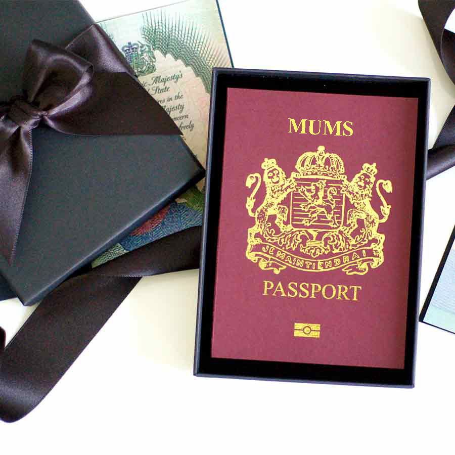 Mums Passport - The perfect way to surprise mum with a trip away
