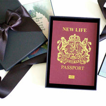 Load image into Gallery viewer, Personalised New job cards | New job new life passport cards | The Luxe Co