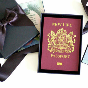 Personalised New job cards | New job new life passport cards | The Luxe Co