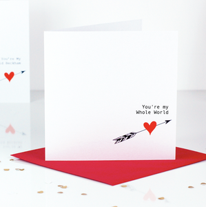 You're My Whole World Valentines Day Card | The Luxe Co