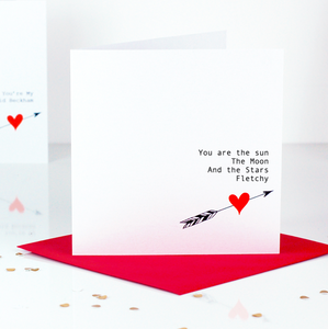 You are the sun, the moon, and the stars Valentines Day Card | The Luxe Co