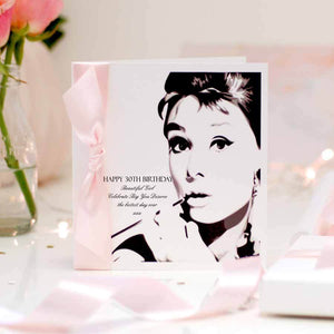 Stylish 30th birthday card - pink - The Luxe Co