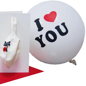 Pull Me Off. Blow Me... Balloon Naughty Rude Card