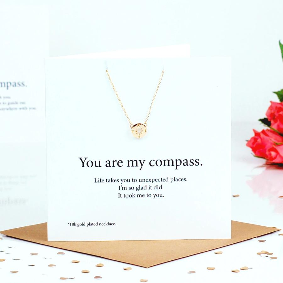 Compass Necklace Card