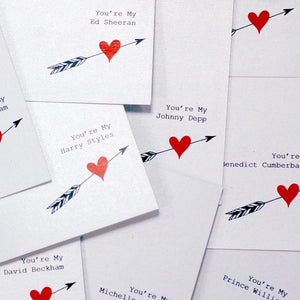 Youre my david beckham valentines card | The Luxe Co