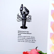 Load image into Gallery viewer, Mate For Life Lobster Card