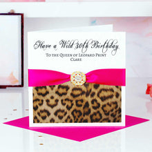 Load image into Gallery viewer, Start Personalising Your Leopard Print Card - theluxeco.co.uk