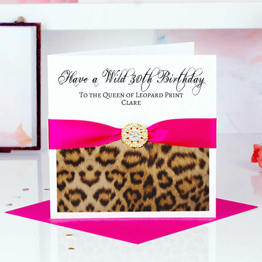 Start Personalising Your Leopard Print Card - theluxeco.co.uk