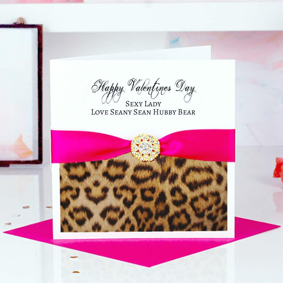 Unique leopard print valentines card | Personalised cards grrrrrrr | The Luxe Co