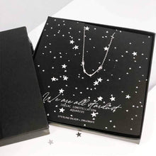 Load image into Gallery viewer, Aquarius star sign constellation jewellery - sterling silver necklace