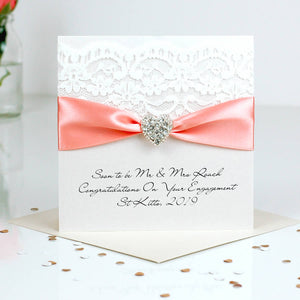 Beautiful Engagement card Opulence heart - theluxeco.co.uk