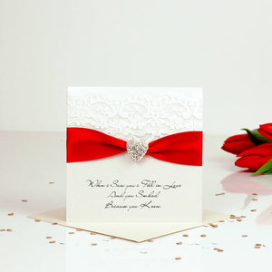Personalised Engagement card with beautiful sparkly heart - theluxeco.co.uk