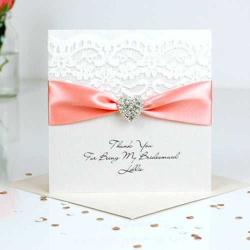 Beautiful Thank you card Opulence heart - theluxeco.co.uk
