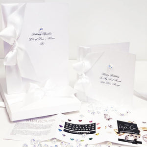 Luxury confirmation cards by the luxe co