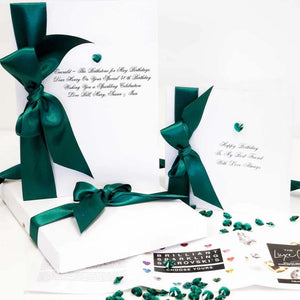 May birthstone birthday card - handmade with luxury Swarovski Crystal in Emerald | The Luxe Co