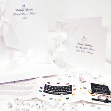 Load image into Gallery viewer, Boxed Bedazzled Swarovski Crystal Diamond Anniversary Card