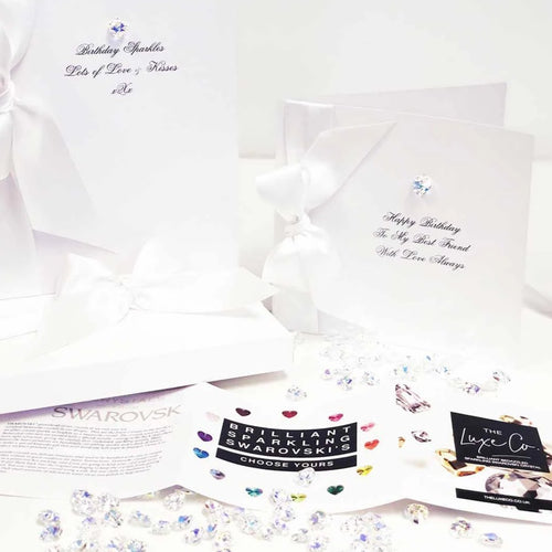 Boxed Bedazzled Swarovski Crystal Diamond Anniversary Card