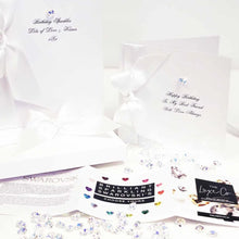 Load image into Gallery viewer, Luxury April Birthday Card with Aprils Birthstone Diamond | The Luxe Co