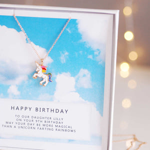 Unicorn gift | Necklace Jewellery | The Luxe Co