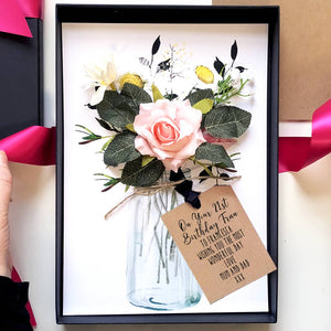 Scented Flower Bouquet Birthday Card In Gift Box