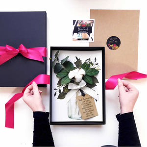 Luxury personalised Cotton Flower Boxed Card | The Luxe Co