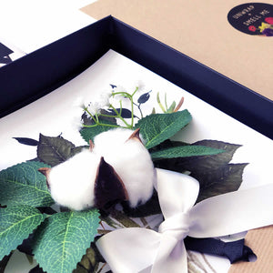 Personalised Cotton Flower Boxed Card | The Luxe Co